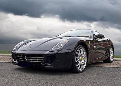 Photograph - Black Ferrari 599 by Gill Billington