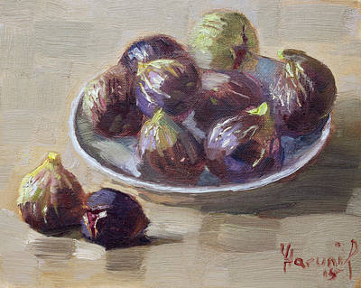 Still Life Painting - Black Figs by Ylli Haruni