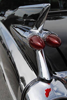 Antique Automobiles Photograph - Black Fin by Dennis Hedberg