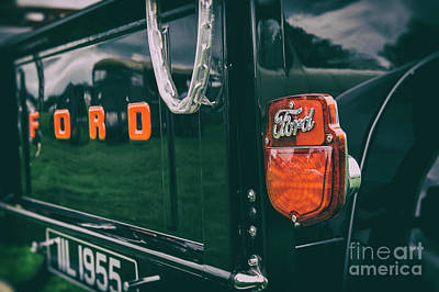 Photograph - Black Ford Pick Up by Tim Gainey