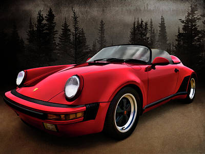 Black Forest - Red Speedster Art Print