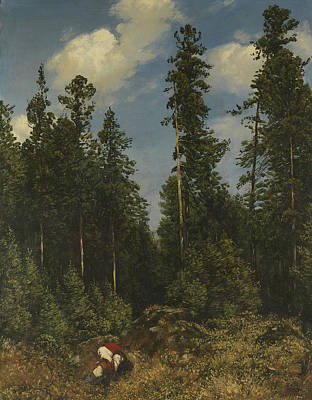 Painting - Black Forest Firs by Treasury Classics Art