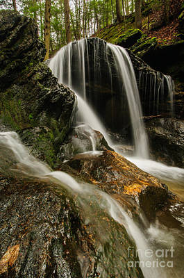Connecticut Photograph - Black Forest Ravine - Connecticut Waterfall by JG Coleman