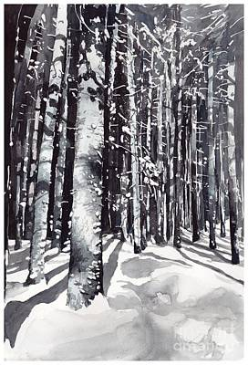 New Hampshire Painting - Black Forest Watercolor by Suzann's Art
