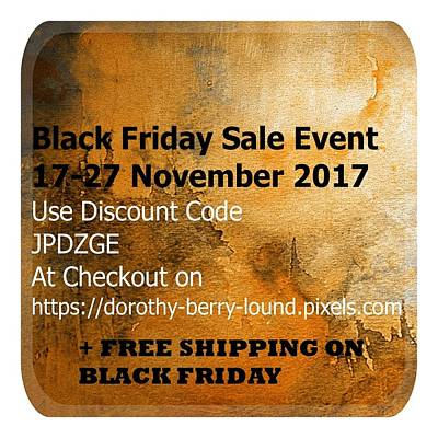 Digital Art - Black Friday Event Notice by Dorothy Berry-Lound