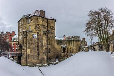 Photograph - Black Gate In The Snow V.1 by David Pringle