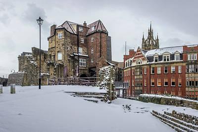 Photograph - Black Gate In The Snow V.3 by David Pringle