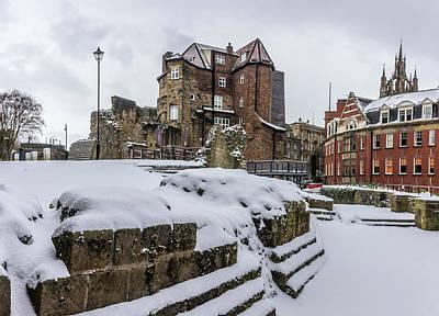 Photograph - Black Gate In The Snow V.4 by David Pringle