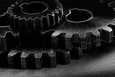 Photograph - Black Gears In Black by David Andersen
