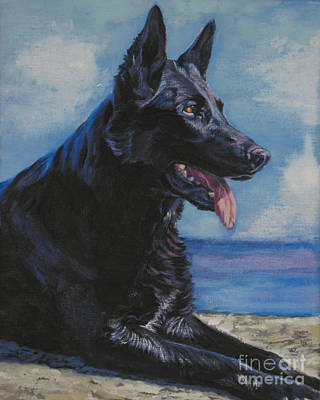 Painting - Black German Shepherd by Lee Ann Shepard