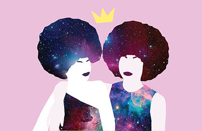 African-american Digital Art - Black Girl Magic Friendship by Karissa Tolliver