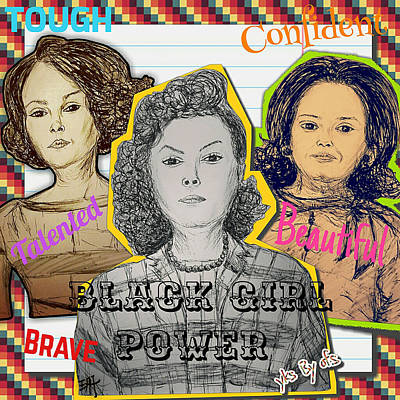 Black Girl Power - Hidden Figures Art Print