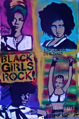 Liberal Painting - Black Girls Rock by Tony B Conscious