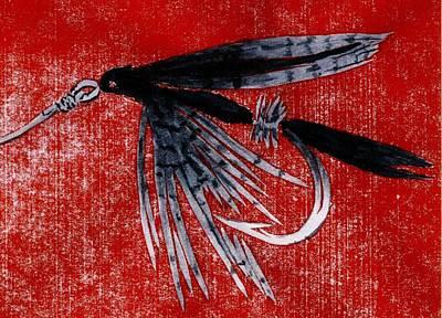 Black Gnat Wet Fly Art Print