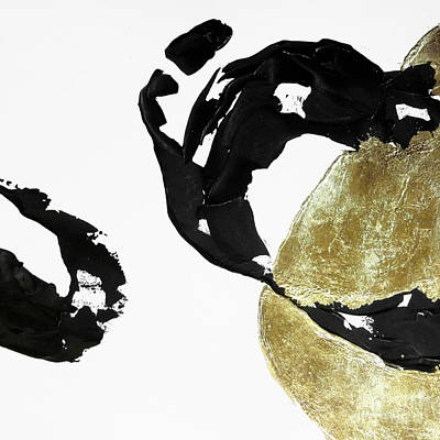 Wall Art - Painting - Black Gold 1 by Chris Paschke