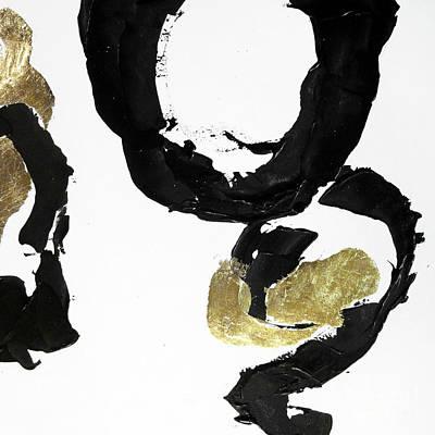 Wall Art - Painting - Black Gold 2 by Chris Paschke
