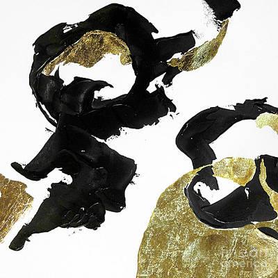 Wall Art - Painting - Black Gold 4 by Chris Paschke
