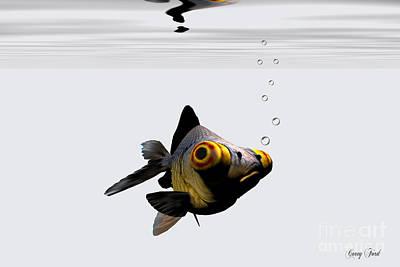 Black Goldfish Print by Corey Ford