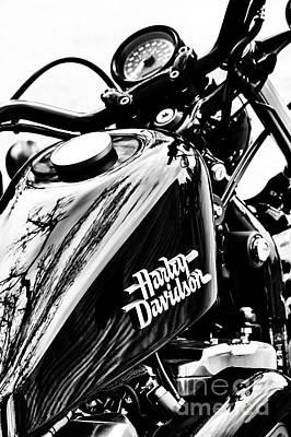 Harley Davidson Photograph - Black Harley by Tim Gainey