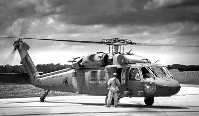 Photograph - Black Hawk Uh60 On The Ramp by Philip Rispin
