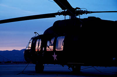 Photograph - Black Helicopter by John Clark
