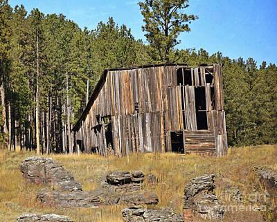 Photograph - Black Hills Barn by Kathy M Krause