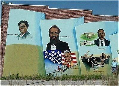 Punta Gorda Painting - Black History Mural Of Punta Gorda by Charles Peck