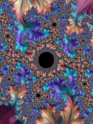 Photograph - Black Hole As Eyelet In The Cosmic Fabric by Ronda Broatch
