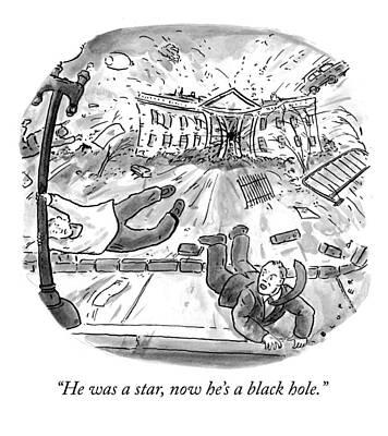 Vortex Drawing - Black Hole by Brendan Loper