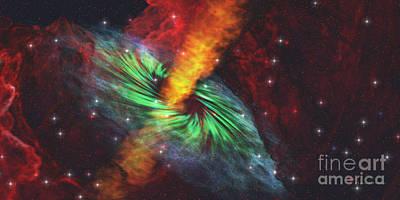 Black Hole In Cosmos Art Print