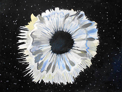 Surrealist Painting - Black Hole Or Is It? by Laura Joan Levine