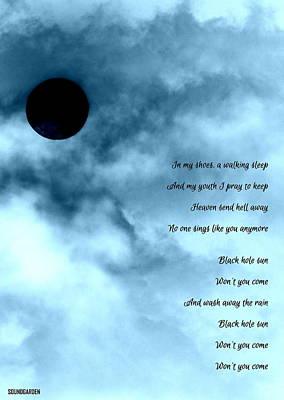 Photograph - Black Hole Sun by Guy Pettingell