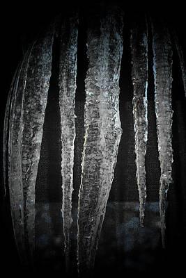 Art Print featuring the digital art Black Ice by Barbara S Nickerson