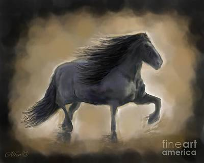 Painting - Black In The Dust by Leslie Allen