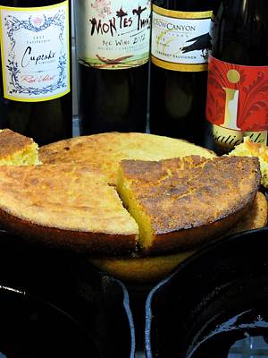 Cornbread Photograph - Black Iron Skillets by Lynn Terry