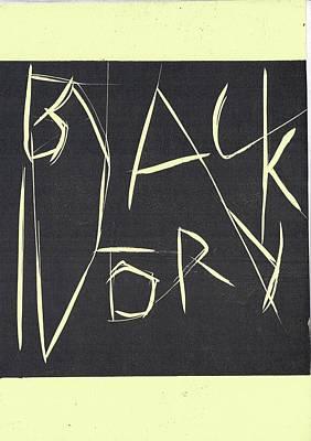 Black Ivory Title Page Art Print