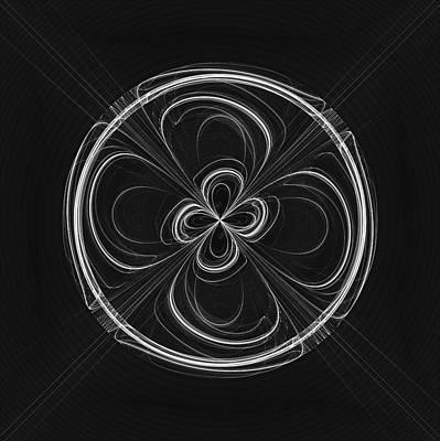 Digital Art - Black Jeans Flower Bowl by Angie Tirado