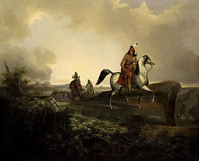 Apache Warrior Painting - Black Knife An Apache Warrior by John Mix