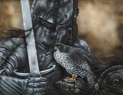 Dakota Painting - Black Knight by Wayne Pruse