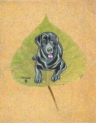Painting - Black Lab #1 by Ralph Root