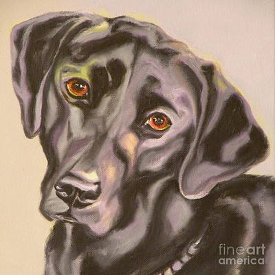 Painting - Black Lab Aint No Cure For Love by Susan A Becker