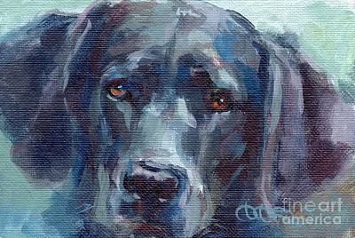 Black Lab Bandit Art Print