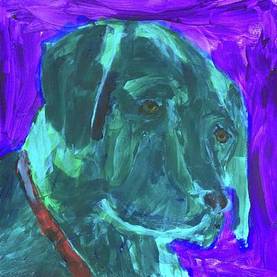 Painting - Black Lab by Donald J Ryker III