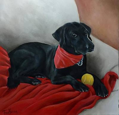 Painting - Black Lab by FayBecca Designs