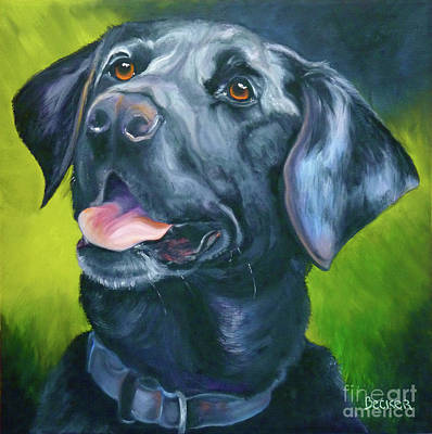 Black Labrador Drawing - Black Lab Forever by Susan A Becker