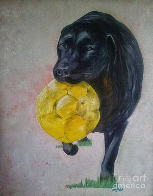 Painting - Black Lab by Isabella F Abbie Shores