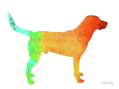 Cat Painting - Black Labrador Art by Ken Figurski