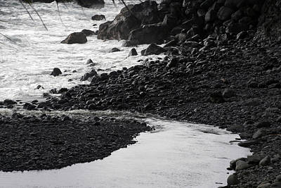 Black Lava Beach, Maui Art Print