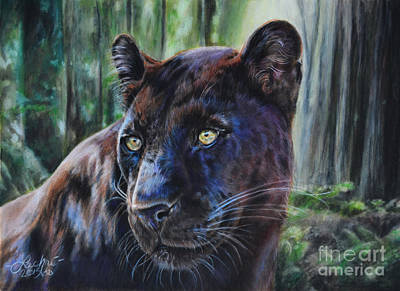 Painting - Black Leopard by Lachri
