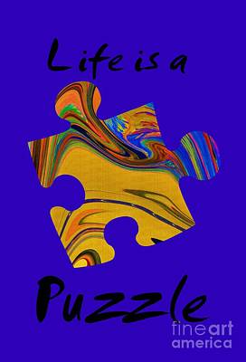 Black Life Is A Puzzle Print by The one eyed Raven